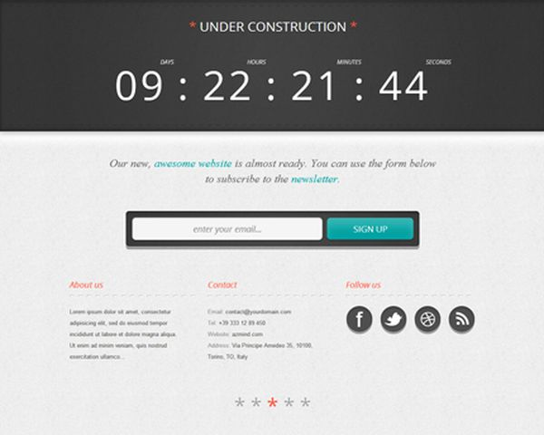thiet ke web under construction wordpress Free