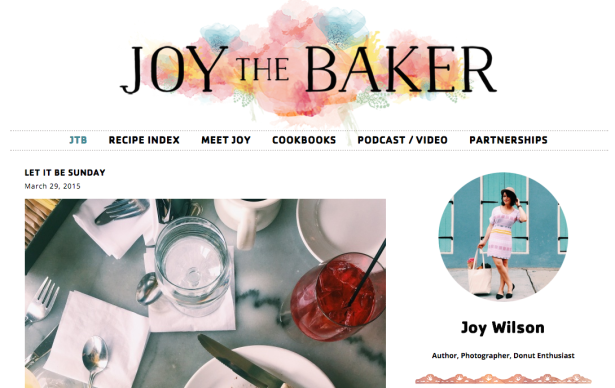 joy the baker thiet ke web