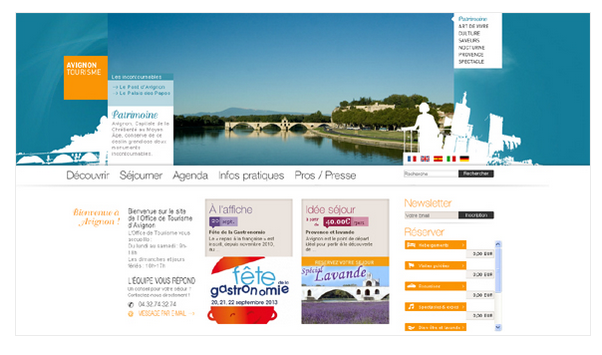 Avignon Tourisme website du lich