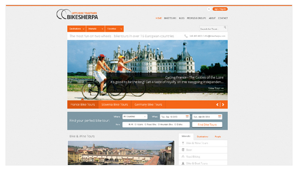 Bike sherpa website du lich