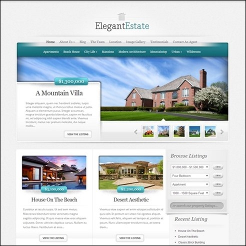 elegant estate3 thiet ke website bat dong san