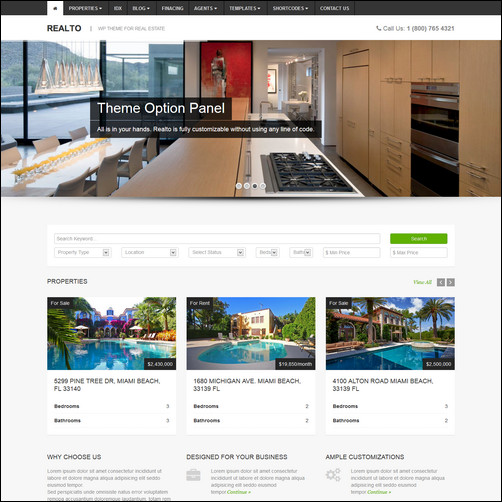 realto wp real estate theme thiet ke web bat dong san