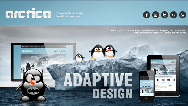 arctica tourism wordpress responsive theme thiet ke web du lich