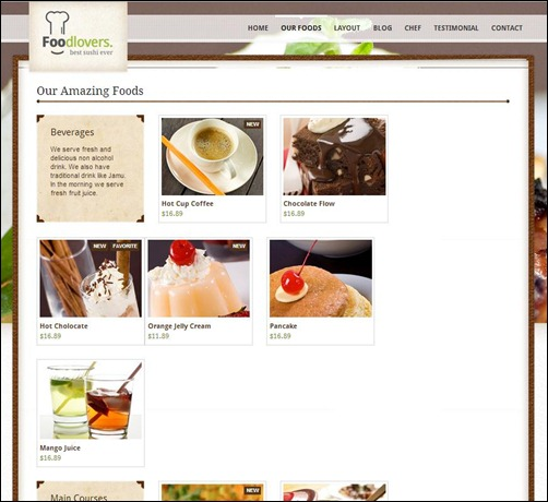 foodlovers thumb thiet ke web nha hang