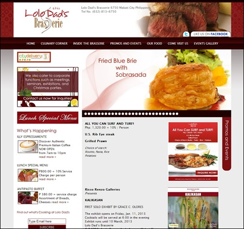 lolo dads brasserie restaurant website thumb thiet ke web nha hang