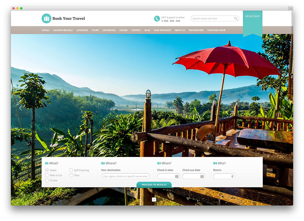 book your travel wordpress theme thiet ke web khach san