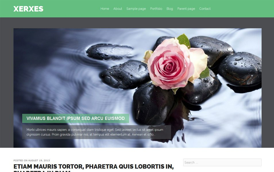 xerxes free portfolio wordpress theme thiet ke web