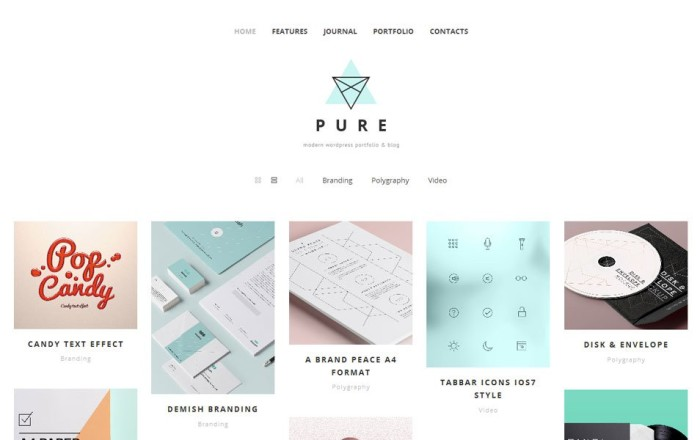pure free portfolio wordpress theme e1419448319982 thiet ke web