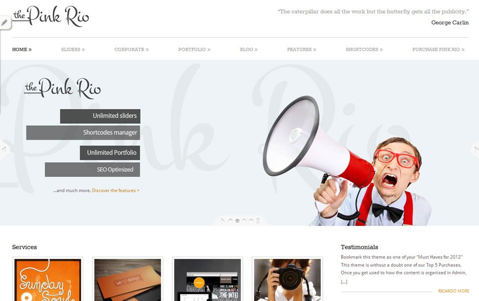 pinkrio free portfolio wordpress theme thiet ke web