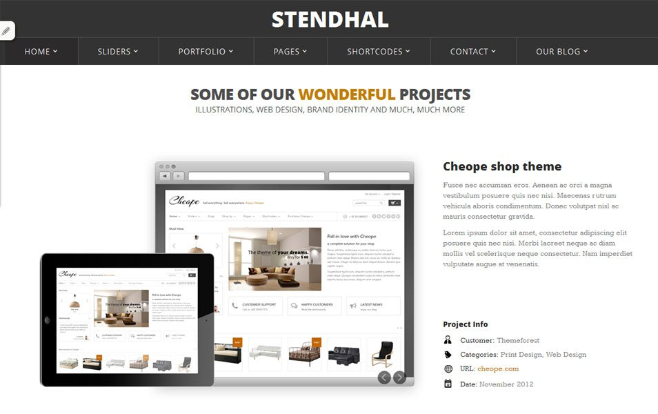 stendhal free portfolio wordpress theme thiet ke web