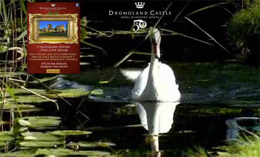 Video background trên website Dromoland Castle