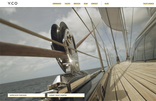 Video background trên website YCO Yachts